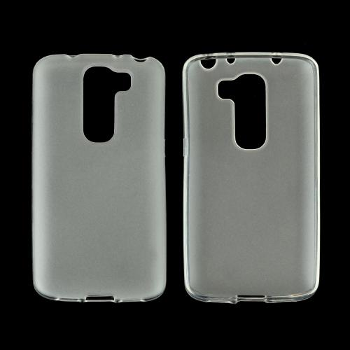 Clear/ Frost LG G2 Mini Flexible Crystal Silicone TPU Case - Conforms To Your Phone Without Stretching Out!