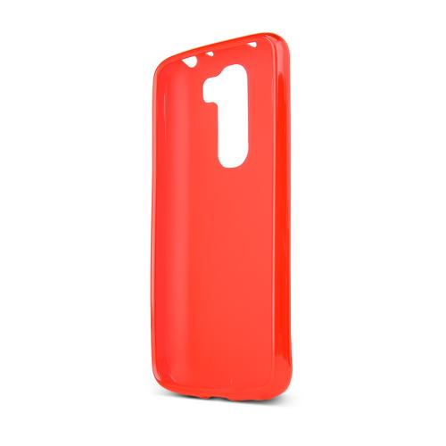 Red/ Frost LG G2 Mini Flexible Crystal Silicone TPU Case - Conforms To Your Phone Without Stretching Out!
