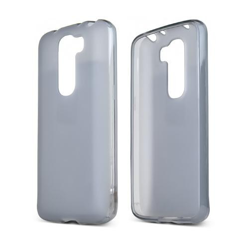 Smoke LG G2 Mini Flexible Crystal Silicone TPU Case - Conforms To Your Phone Without Stretching Out!