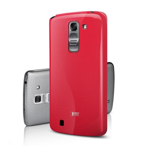 Candy Apple Red Exclusive RED SHIELD Anti-Slip TPU Crystal Silicone Case + Free Screen Protector for LG G Pro 2