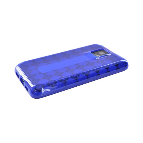 T-Mobile G2X Crystal Silicone Case - Argyle Blue