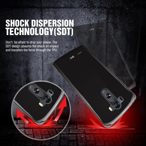 REDshield LG G3 Black Crystal Silicone Skin TPU Case w/ Free Screen Protector - Conforms To Your Phone Without Stretching Out!