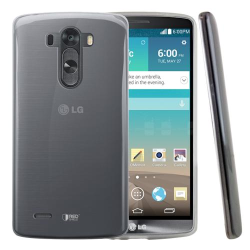REDshield® LG G3 Clear/ Frosted Matte Crystal Silicone TPU Skin Case w/ Free Screen Protector