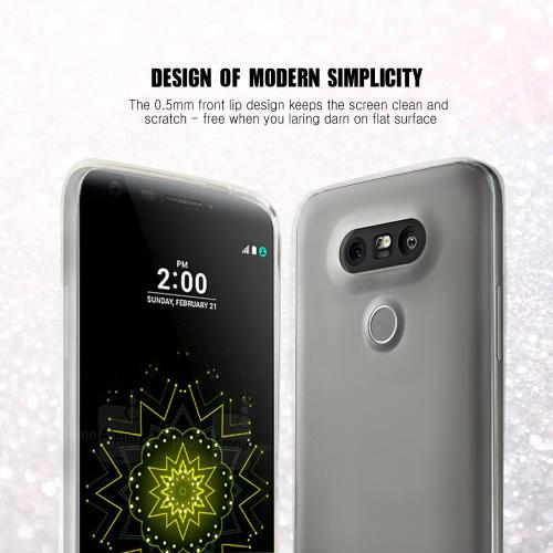 [LG G5] Case, [Clear] Slim & Flexible Anti-shock Crystal Silicone Protective TPU Gel Skin Case Cover