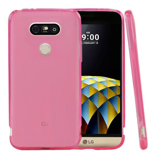 LG G5  Case, REDshield [Hot Pink]  Slim & Flexible Anti-shock Crystal Silicone Protective TPU Gel Skin Case Cover