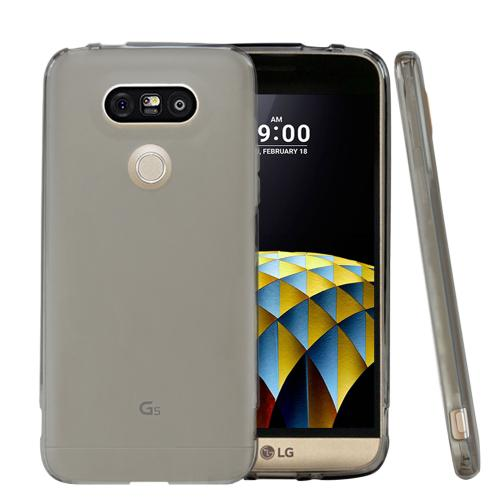 [LG G5] Case,  [Frost Black]  Slim & Flexible Anti-shock Crystal Silicone Protective TPU Gel Skin Case Cover