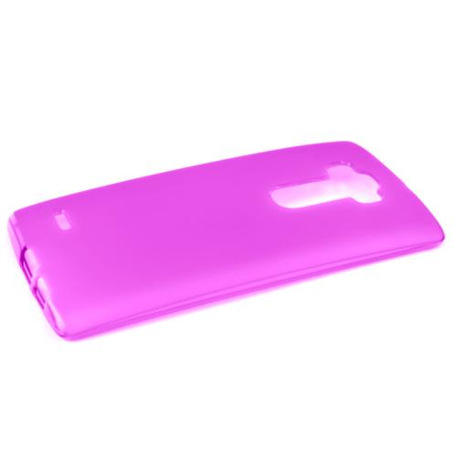 G Flex 2 Case, [Hot Pink / Frost] Slim & Flexible Crystal Silicone TPU Skin Cover for LG G Flex 2