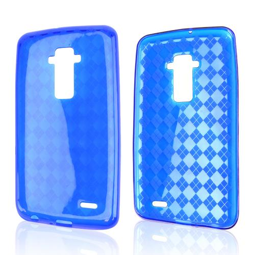 Blue Argyle Crystal Silicone Skin TPU Skin Case for LG G Flex [AT&T, Sprint,T-Mobile]