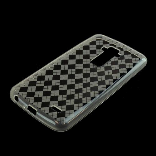 Clear Argyle Crystal Silicone Skin TPU Skin Case for LG G Flex [AT&T, Sprint,T-Mobile]