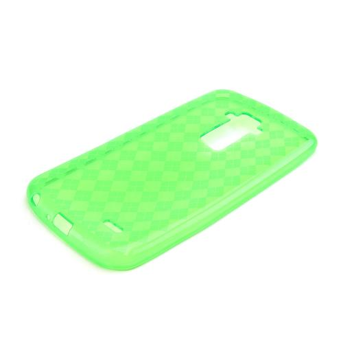 Neon Green Argyle Crystal Silicone Skin TPU Skin Case for LG G Flex [AT&T, Sprint,T-Mobile]