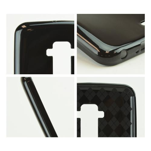 Black (Argyle Interior) Crystal Silicone Skin TPU Skin Case for LG G Flex [AT&T, Sprint,T-Mobile]