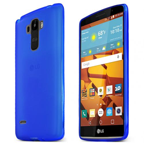 LG G Stylo Case, [BLUE] Slim & Flexible Anti-shock Crystal Silicone Protective TPU Gel Skin Case Cover