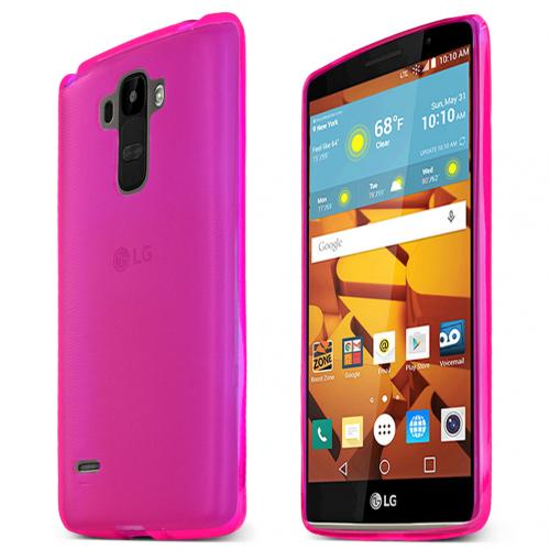 LG G Stylo Case, Hot Pink Slim & Flexible Anti-shock Crystal Silicone TPU Skin Protective Case
