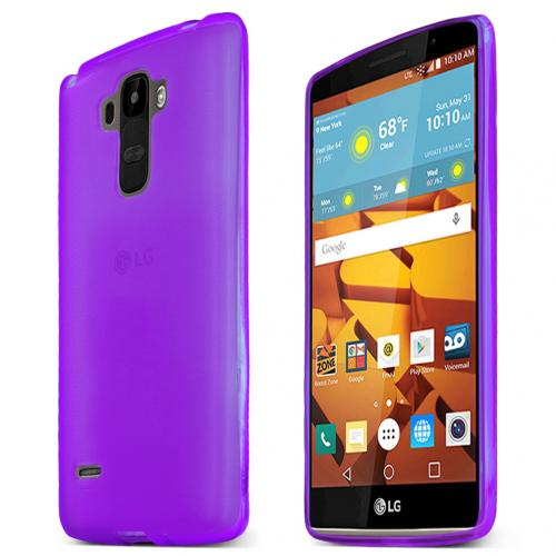 LG G Stylo Case, [PURPLE] Slim & Flexible Anti-shock Crystal Silicone Protective TPU Gel Skin Case Cover