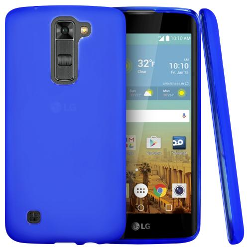 LG K7/ LG Tribute 5 Case,  [Blue]  Slim & Flexible Anti-shock Crystal Silicone Protective TPU Gel Skin Case Cover