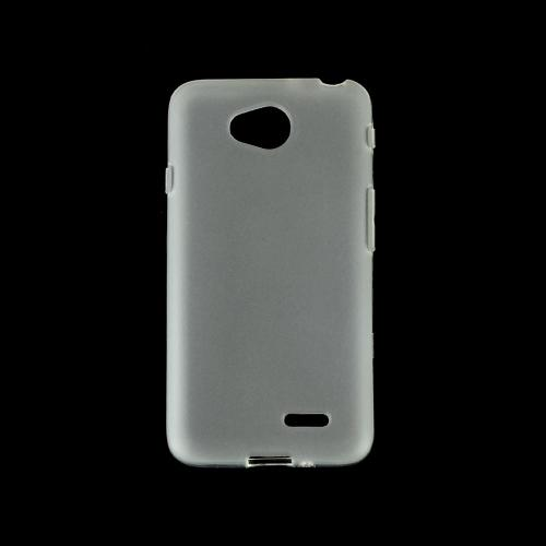 Clear/ Frost LG Optimus Exceed 2/ LG L70 Flexible Crystal Silicone TPU Case - Conforms To Your Phone Without Stretching Out!