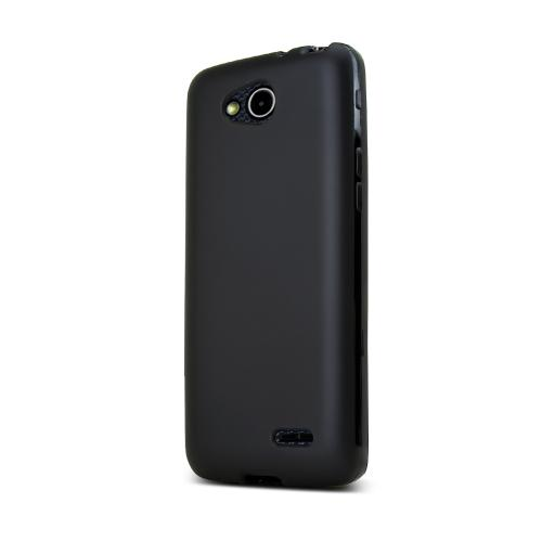 Black LG L90 Flexible Crystal Silicone TPU Case - Conforms To Your Phone Without Stretching Out!