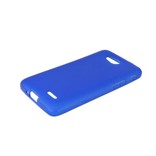 Blue/ Frost LG L90 Flexible Crystal Silicone TPU Case - Conforms To Your Phone Without Stretching Out!