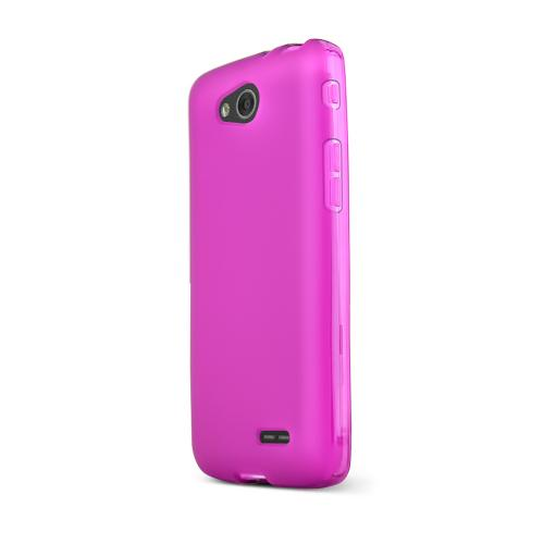 Purple/ Frost LG L90 Flexible Crystal Silicone TPU Case - Conforms To Your Phone Without Stretching Out!