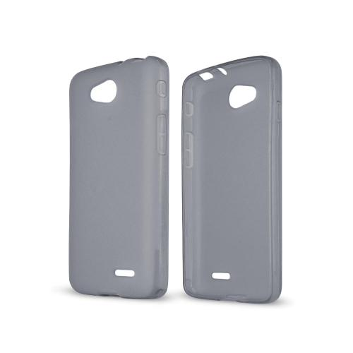 Smoke/ Frost LG L90 Flexible Crystal Silicone TPU Case - Conforms To Your Phone Without Stretching Out!