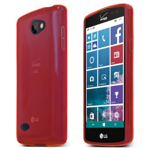 LG Lancet Case, [Red] Slim & Flexible Crystal Silicone TPU Protective Case
