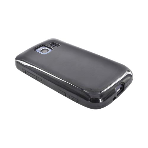 LG Optimus S LS670 Crystal Silicone Case - Black