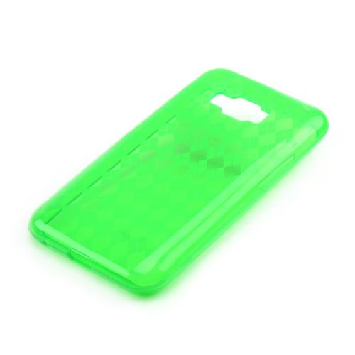 LG Optimus Elite Crystal Silicone Case - Neon Green Line Design