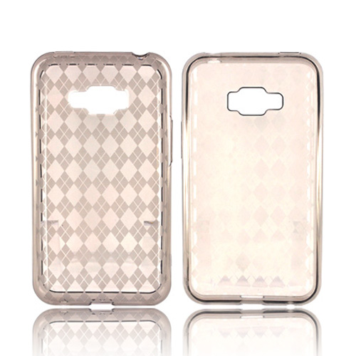 LG Optimus Elite Crystal Silicone Case - Argyle Smoke
