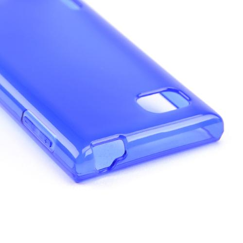 Blue/ Frost Crystal Silicone Skin Case for LG Optimus F3