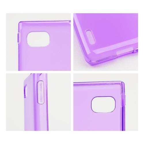 Purple/ Frost Crystal Silicone Skin Case for LG Optimus F3
