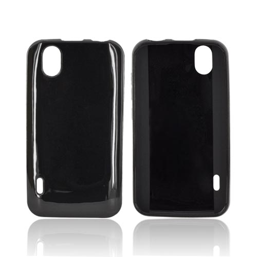 LG Marquee LS855 Crystal Silicone Case - Black