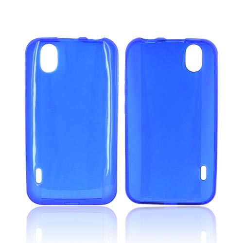 LG Marquee LS855 Crystal Silicone Case - Blue