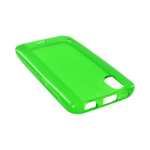 LG Marquee LS855 Crystal Silicone Case - Green