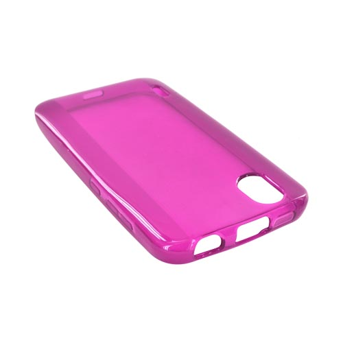LG Marquee LS855 Crystal Silicone Case - Magenta
