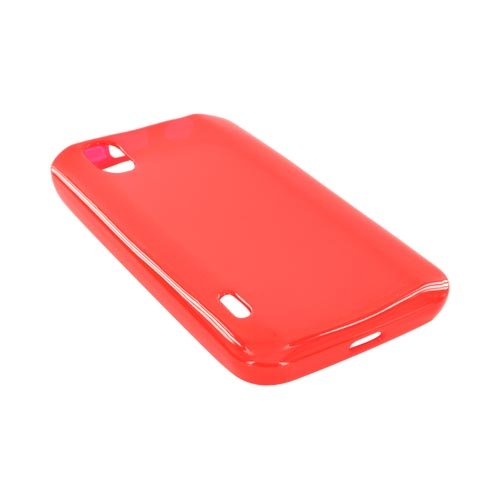 LG Marquee LS855 Crystal Silicone Case - Red