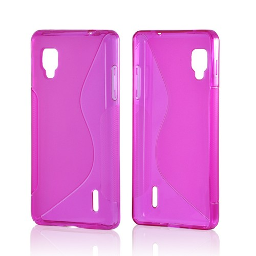 Pink S Crystal Silicone Case for LG Optimus G (Sprint)