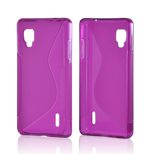 Purple S Crystal Silicone Case for LG Optimus G (Sprint)