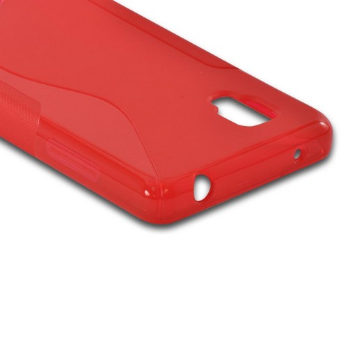Red S Crystal Silicone Case for LG Optimus G (Sprint)