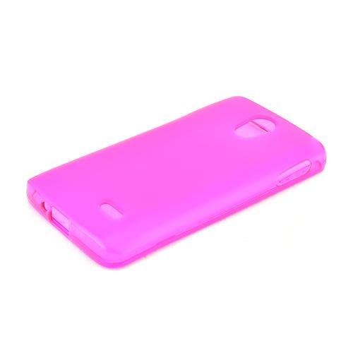 Pink LG Lucid 3 Flexible Crystal Silicone TPU Case - Conforms To Your Phone Without Stretching Out!
