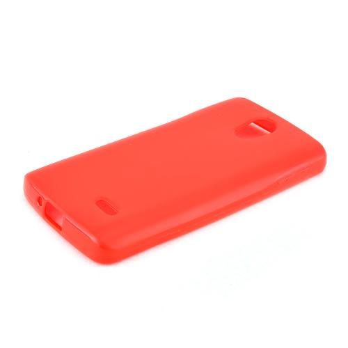 Red LG Lucid 3 Flexible Crystal Silicone TPU Case - Conforms To Your Phone Without Stretching Out!