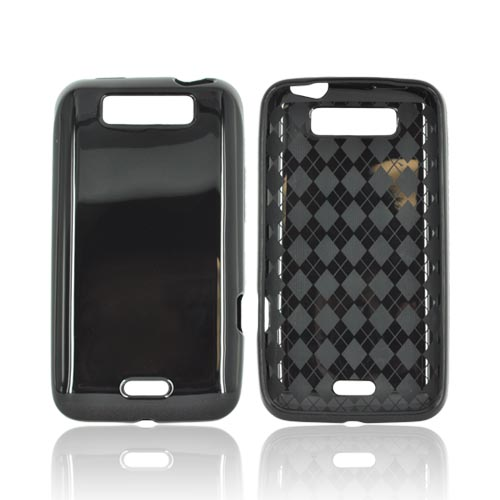LG Viper 4G LTE/ LG Connect 4G Crystal Silicone Case - Black