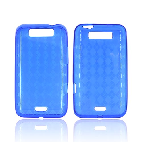 LG Viper 4G LTE/ LG Connect 4G Crystal Silicone Case - Argyle Blue