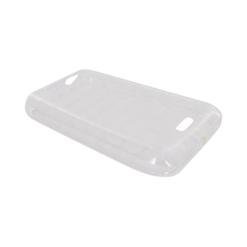 LG Viper 4G LTE/ LG Connect 4G Crystal Silicone Case - Argyle Clear