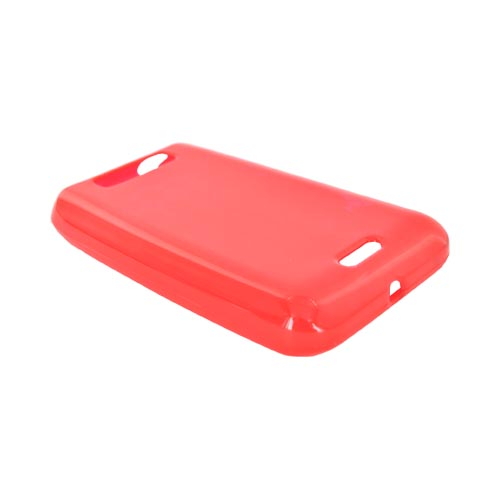 LG Viper 4G LTE/ LG Connect 4G Crystal Silicone Case - Argyle Red