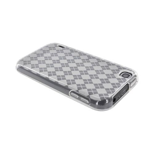 T-Mobile MyTouch Crystal Silicone Case - Argyle Clear