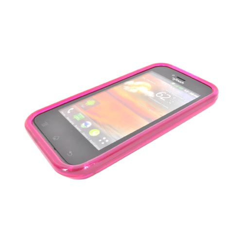LG MyTouch Crystal Silicone Case - Hexagonal Hot Pink