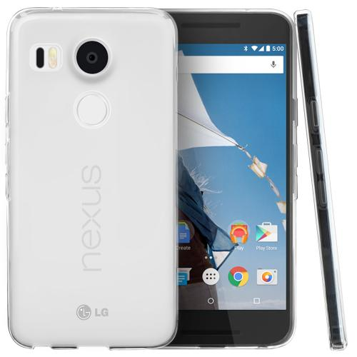 LG Google Nexus 5X Case, [Frost Clear]  Slim & Flexible Anti-shock Crystal Silicone TPU Skin Protective Cover
