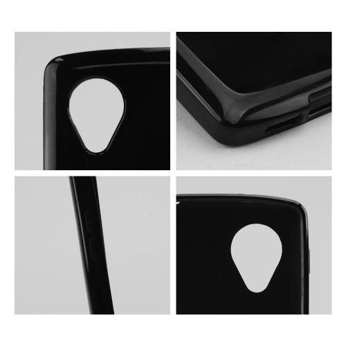 Black Crystal Silicone Skin Case for LG Google Nexus 5