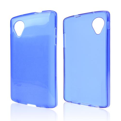 Blue/ Frost Crystal Silicone Skin Case for LG Google Nexus 5