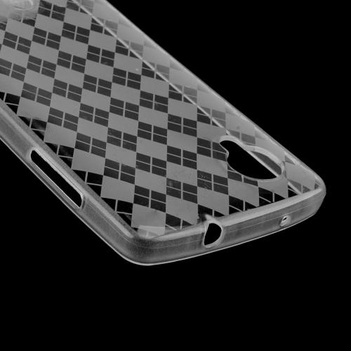 Argyle Clear Crystal Silicone Skin Case for LG Google Nexus 5